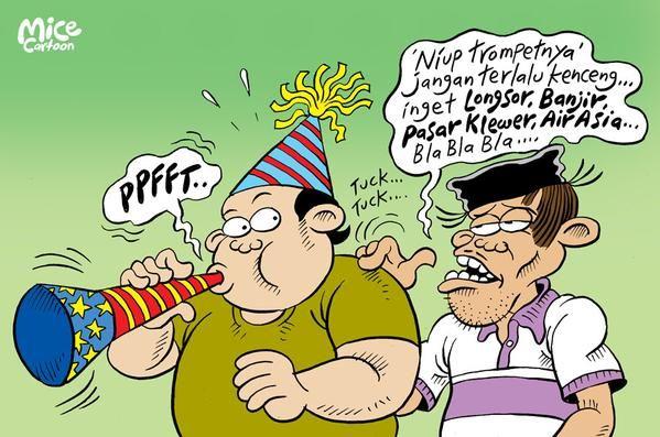 Mice Cartoon, Rakyat Merdeka - Desember 2014: Happy New Year