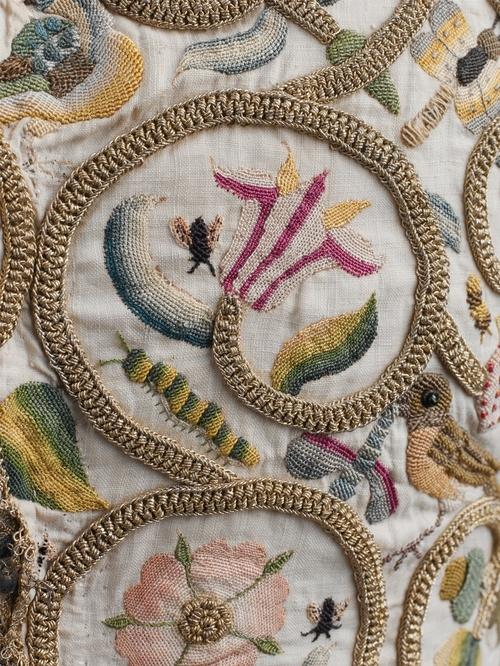 Embroidery detail, Jacket, c. 1616, Metropolitan Museum of Art