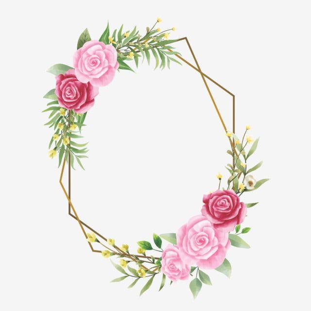 إطار دعوة زفاف مع ورود وأوراق بألوان مائية زهرة الإطار حفل زواج Png والمتجهات للتحميل مجانا Invitation Frames Copper Wedding Invitations Pink Roses Wedding