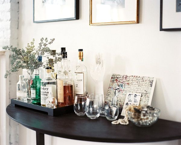 Eclectic bar display Raising the Bar: Stylish Home Bar Ideas for Your Space
