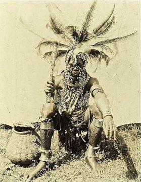 Luo Tribesman in full regalia - East Africa.