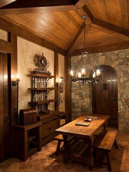 Walnut Cove Chateau, Traditional Wine Cellar