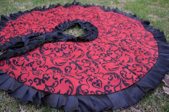 Hey, I found this really awesome Etsy listing at https://www.etsy.com/listing/497895223/ruffle-christmas-tree-skirt-red
