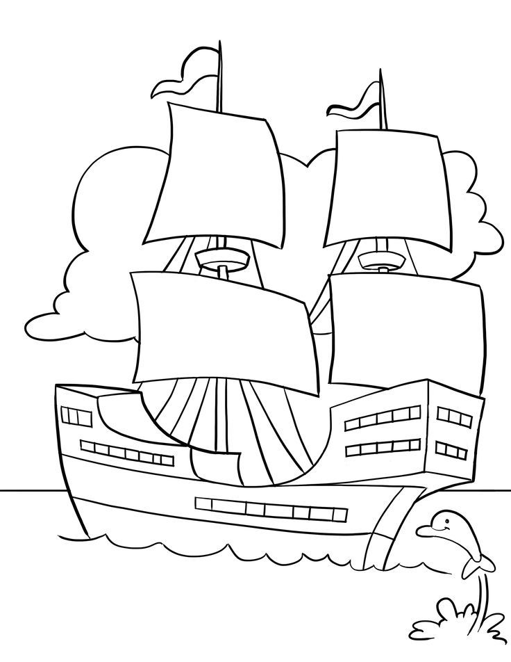 Thanksgiving Song And Free Printable Mayflower Coloring Page For Kids
