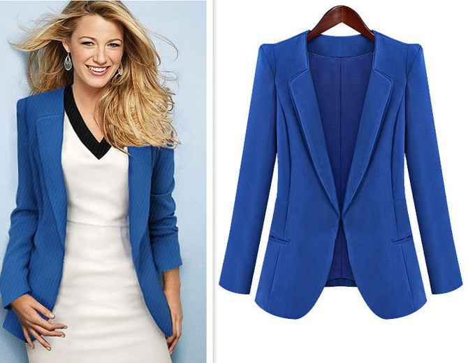 Fashion Spring Autumn Coat Lady Suit Formal Dress (Gossip Girl Serena wears the same)