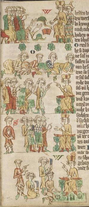 Eike <von Repgow>   Heidelberger Sachsenspiegel — Ostmitteldeutschland, Anfang 14. Jh. Cod. Pal. germ. 164 Folio 24r