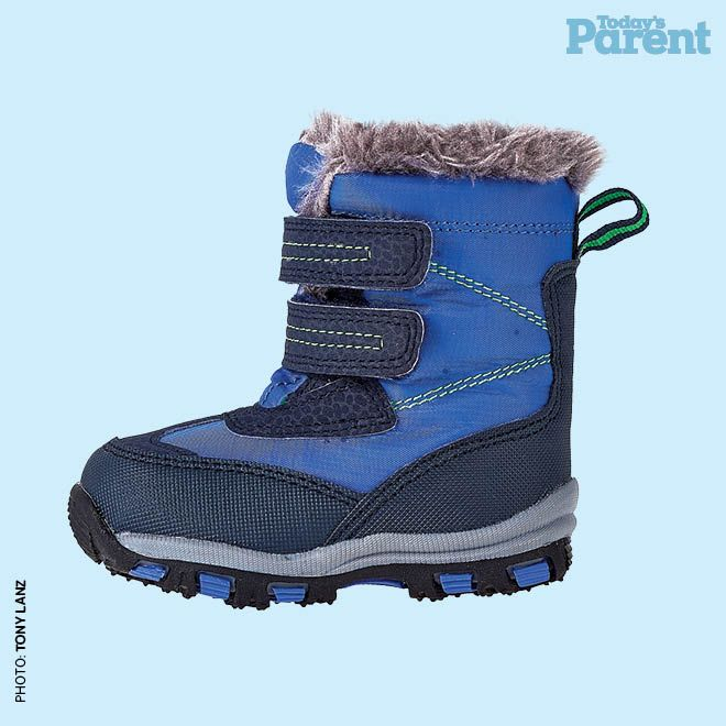 12 cozy winter boots for kids - Velcro boot $22, Joefresh.com #TodaysParent #KidsWinterBoots