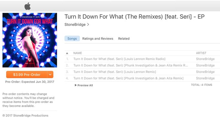 Insanely hot StoneBridge ft Seri - Turn It Down For What (Phunk Investigtion & Jean Aita // Louis Lennon Remixes) drops Friday June 30, but pre-order is open - go on, you know you wanna ;-) http://smarturl.it/TIDFWRMX