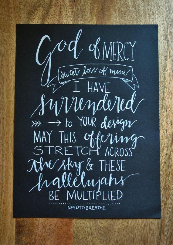 NEEDTOBREATHE Multiplied Lyrics// by SaraVroomanDesigns on Etsy