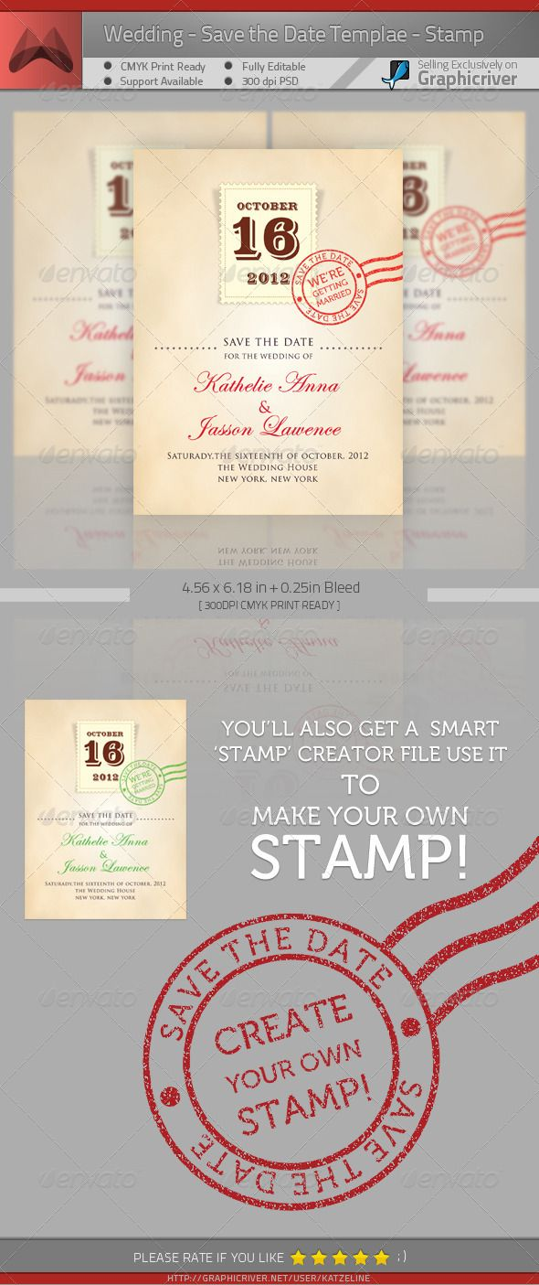free wedding invitation psd%0A Wedding  Save the Date  Stamp