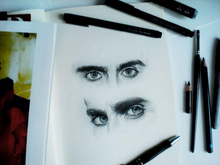 Jared Leto's eyes.
