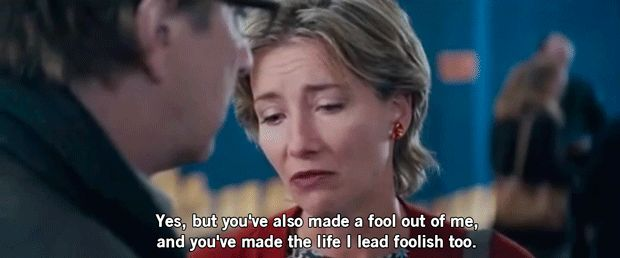 """Remember? Harry (Alan Rickman) begins a flirtation with his secretary Mia (Heike Makatsch) even though he's married to the human personification of perfection, Karen (Emma Thompson)?   Here's The Answer To Everyone's Biggest Question About """"Love Actually"""""""