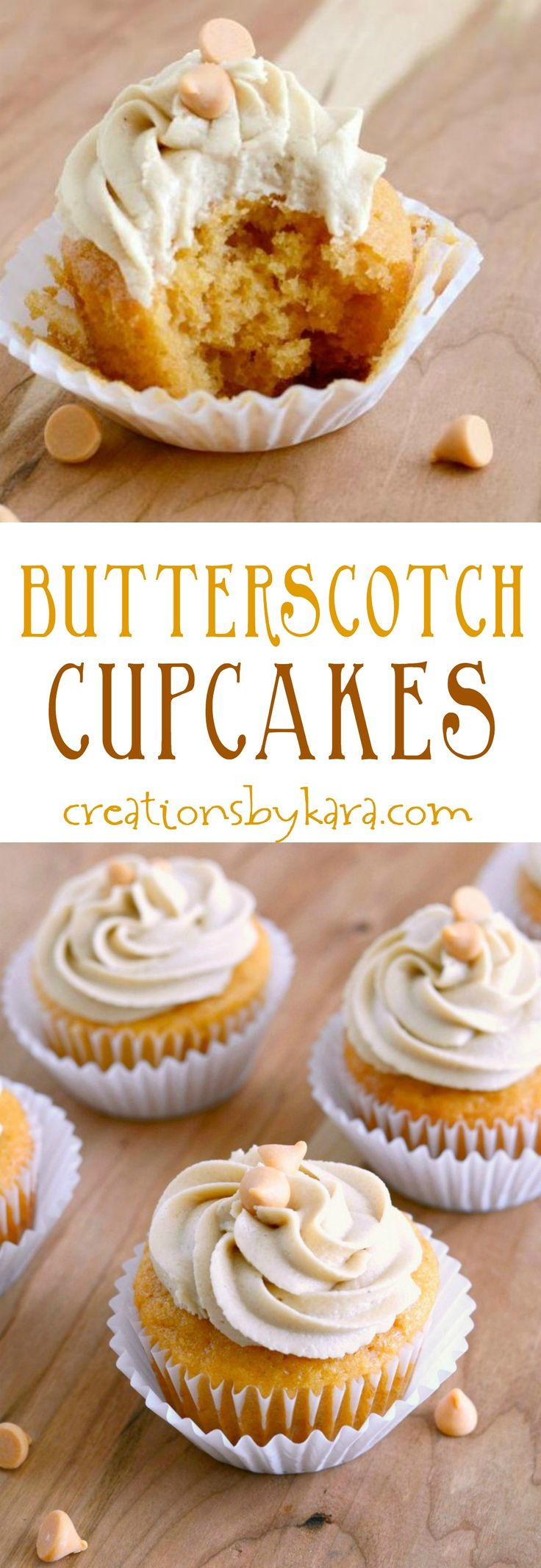 These Butterscotch cupcakes are packed with flavor and so tender! The butterscotch frosting is incredible!