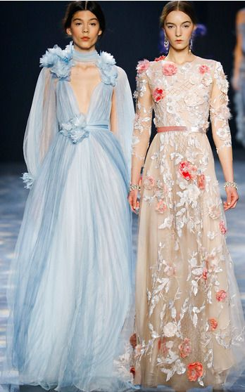 They're an obvious choice when it comes to selecting a fabulous evening gown. This season, designers Georgina Chapman and Keren Craig mused on the work of artist John Singer Sargent—whose female portraits were both seductive and empowered—for a lineup of dresses rich with a regal opulence sure to steal the spotlight.