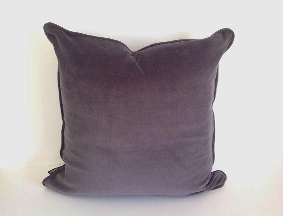 Grey Velvet Throw Pillow Cover Grey Cushion Cover Free