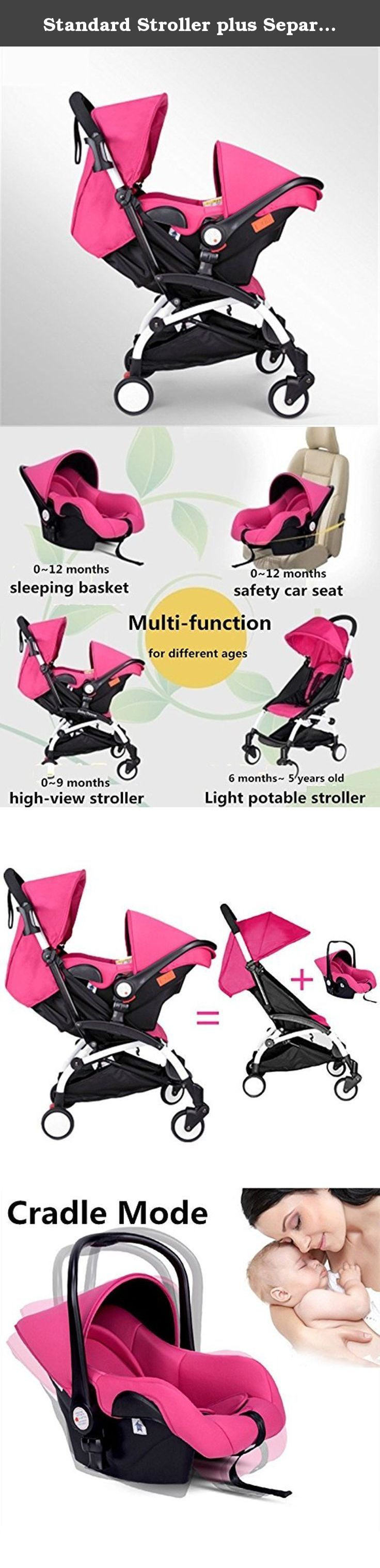 Standard Stroller plus Separate Car Seat, 5.8kg Light, Multi-function, Suspension, Portable, Bidirectional, Folding and Detachable Stroller for Baby to Sit or Lie down (pink). Some Specials of Our Commodity 1:Our strollers are with higher ground clearance than others, which can protect you baby from the air pollution and can have a broad view. 2:Our product with the the suspension function can protect the baby from shake which is harmful for the brain. 3:Wide age group from 0~6 years old…