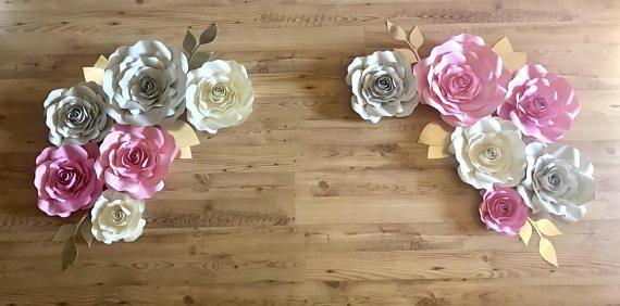 custom wall flower backdrop