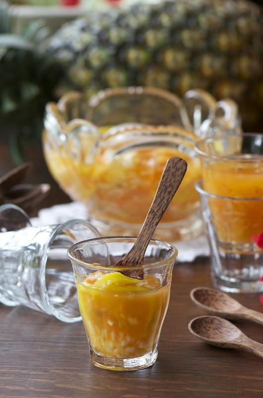 Indonesian Medan Food: Rujak Serut Aceh (Aromatic mix fruit salad)