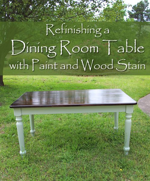"""A co-worker at my job had this old beat up table that she wanted to get rid of quickly to get it out of her house. It was her own """"work table"""" as she described it. Since I've been on the prowl for a dining room table to refinish for my own dining room, I …"""
