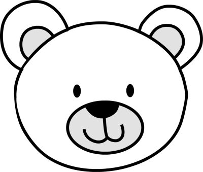 bear face coloring pages Best Photos of Polar Bear Face Outline   Teddy Bear Face Coloring  bear face coloring pages