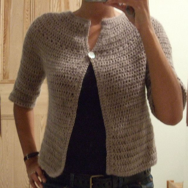 Top down yoke cardigan-- specific pattern created using knitware software--tutorial linked