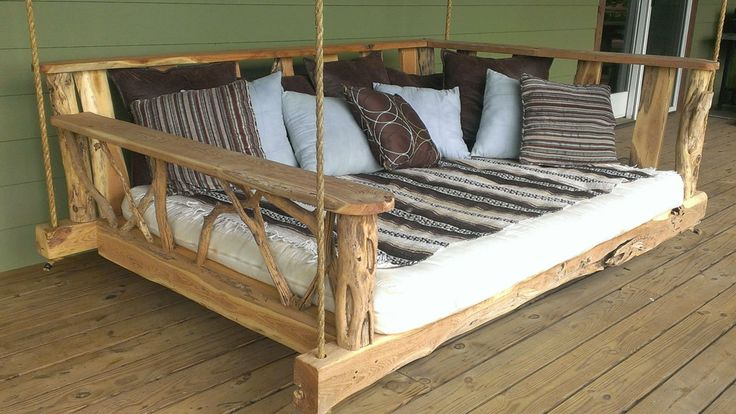 Rustic Porch Swing Bed | DudeIWantThat.com
