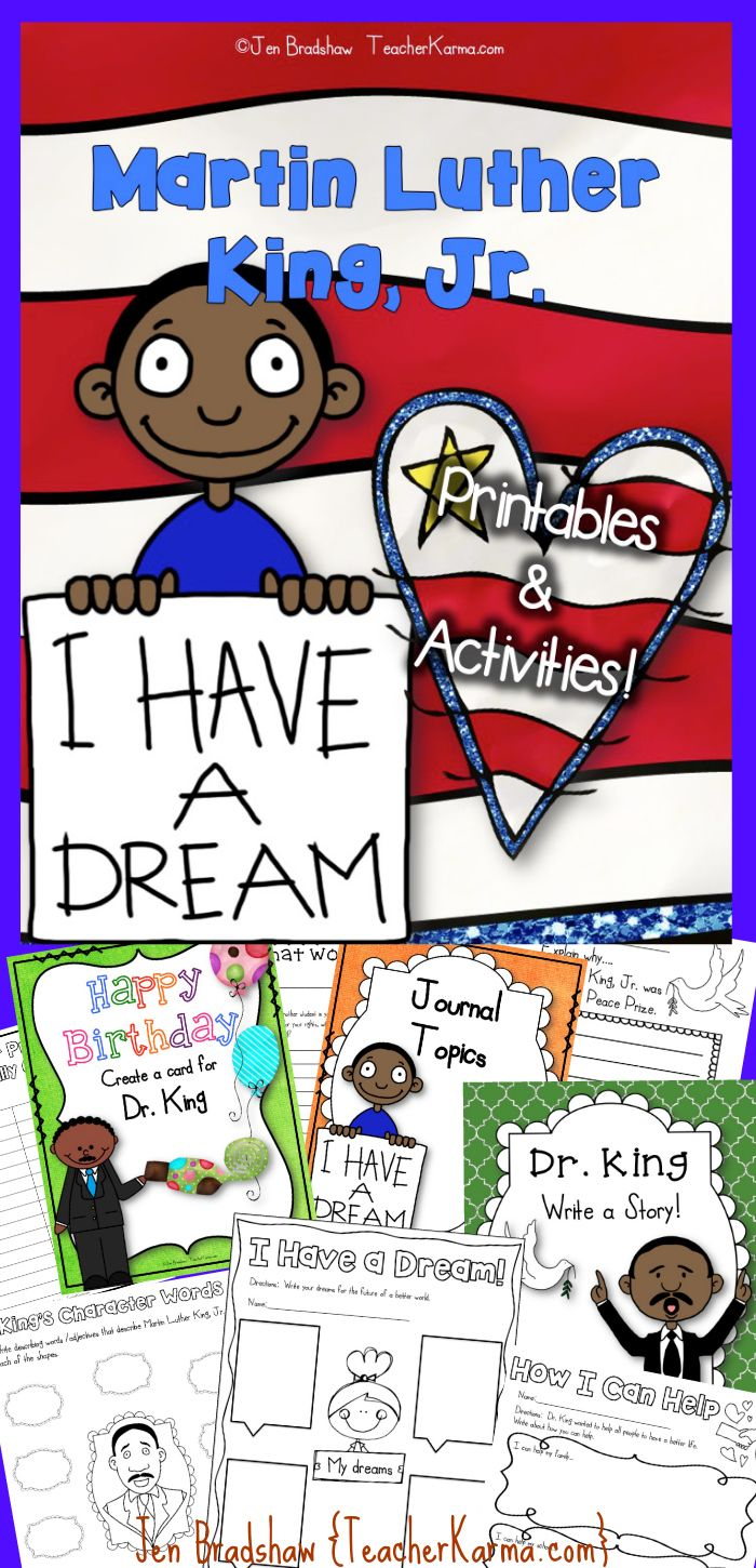 Martin Luther King, Jr. Literacy and Social Studies Unit! Activities, printables, worksheets, and lessons that will inspire students to think about how Dr. King changed the world. TeacherKarma.com #MLK #King