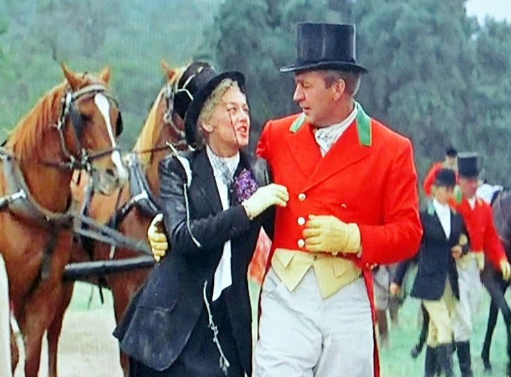 """Rosalind Russell and Forrest Tucker """"Auntie Mame"""" this"""