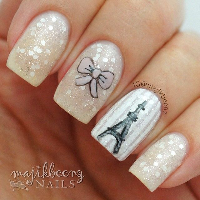 cute paris nailart