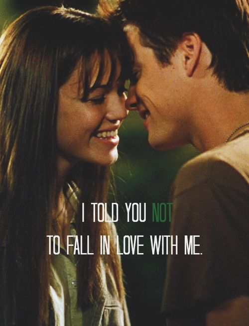 "via my-forestlove.tumblr.com     Favorite Couples - Jamie Sullivan and Landon Carter (A Walk To Remember)    ""You have to promise you won't fall in love with me."""