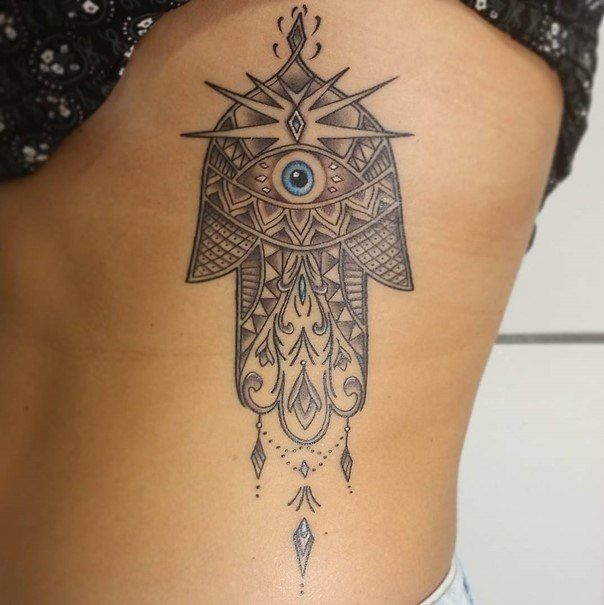 Best 25 hamsa tattoo design ideas on pinterest lotus for Hand of fatima tattoo