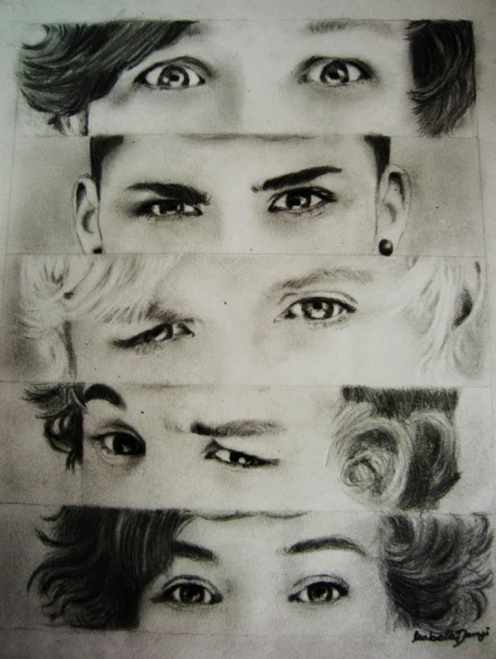 My drawing of One Directions beautiful eyes!