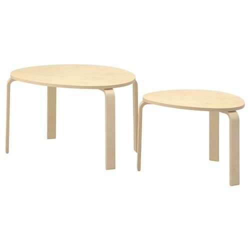 SVALSTA Τραπέζια ζιγκόν, σετ 2 τεμ. - IKEA