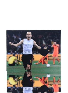 Andrés Iniesta Signed Spain Goal For Dani Photo
