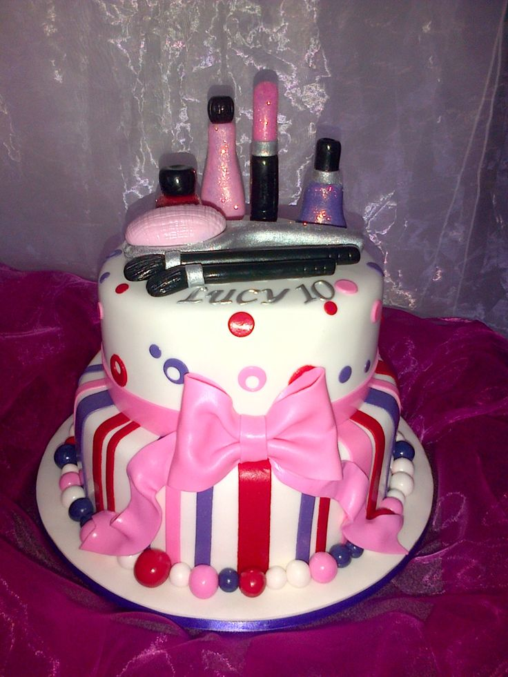 Pamper Party Cake Hettie Jordaan Cakes Pamper Party