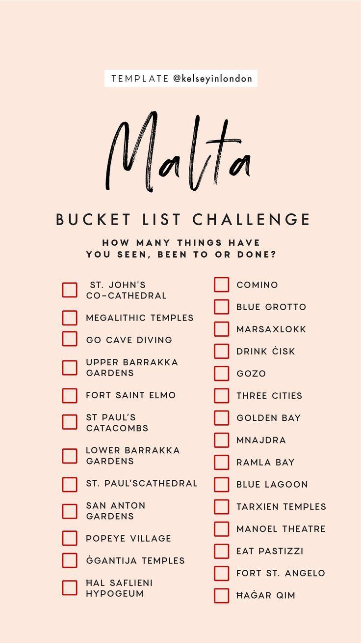 Top things to do in Malta – Malta Bucketlist – Instagram Story Template – kelseyinlondon – Kelsey Heinrichs – What to do in Malta – Where to go in Malta – top places in Malta