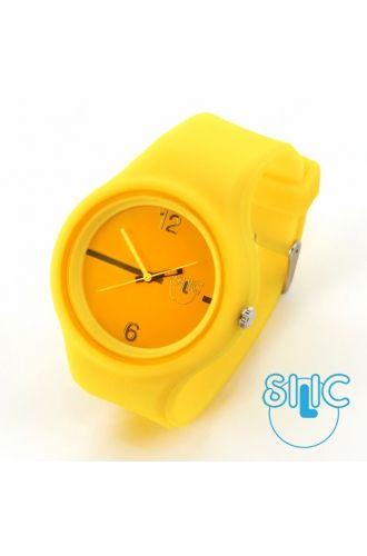 Silic Watch Color Round - žlutá