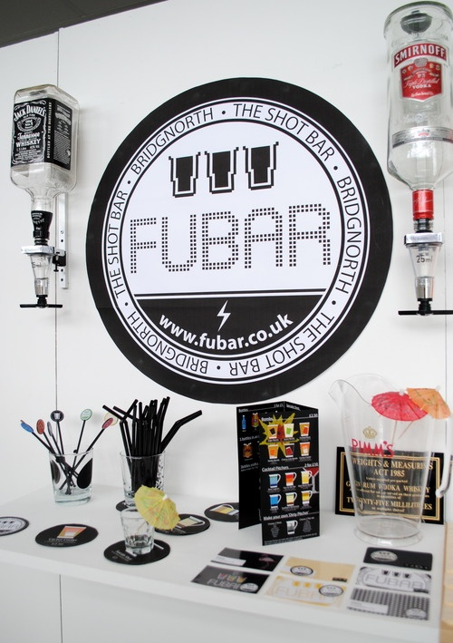Designs for FUBAR - exhibition display (2nd year college project)