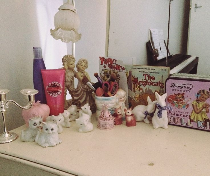 Cluttered dressing table