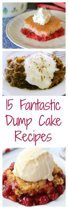 Hot Eats and Cool Reads: Rhubarb Dump Cake plus 14 Other Fantastic Dump Cake Recipes