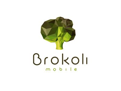 """I liked this polygon styled logo. I also really like the colors. The logo fits the company """"Brokoli"""" perfectly."""