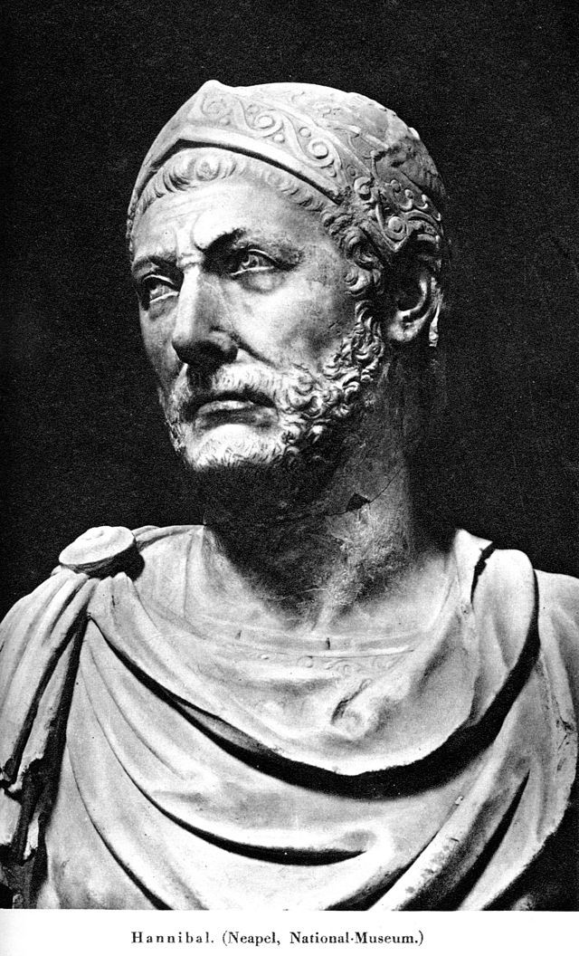 Hannibal-Hannibal Barca, son of Hamilcar Barca (247 – 183/182/181 BC) was a Punic Carthaginian military commander, generally considered one of the greatest military commanders in history.