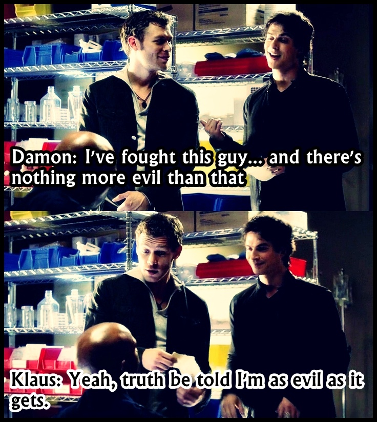 I adore their scenes together, almost much as I adore Klaus and Caroline scenes.