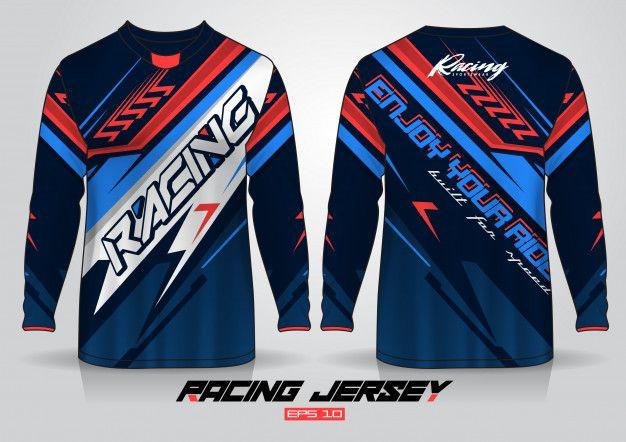 Download Long Sleeve T Shirt Template Uniform Fr Free Vector Freepik Freevector Template Sport Motorcycl T Shirt Design Template Racing Shirts Shirt Template