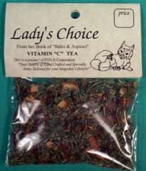 Vitamin C tea (5+ cups). Rebuilds vitamin C naturally, rich in vitamin C: lemon balm, rose hips, cinnamon, & orange peel. Loose tea, one package is enough for 5 + cups. (Not to be used as a substitute for a doctor's care.)