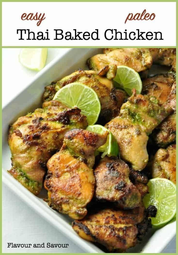 Easy Thai Baked Chicken Recipe Recipes Chicken Recipes Baked