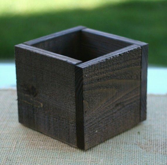 Barn wood planter box centerpieces wedding pinterest