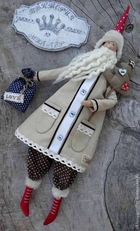 Куклы Тильды ручной работы. Ярмарка Мастеров - ручная работа кукла тильда ручной работы ДЕД МОРОЗ)))))))). Handmade.