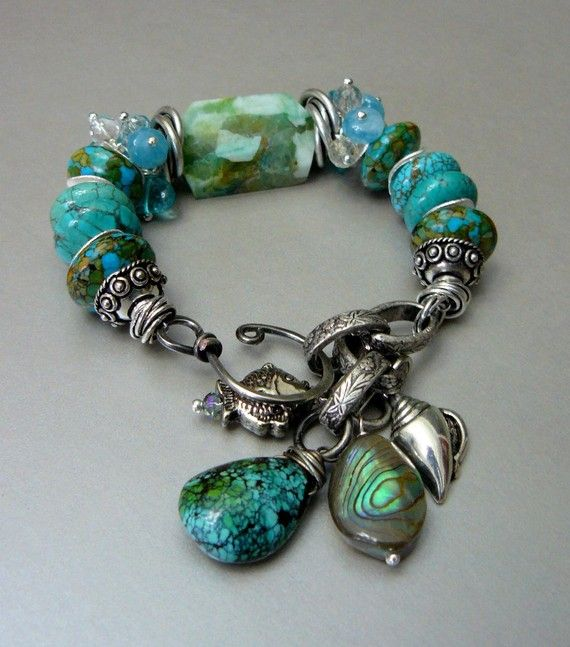 Blue Moons with Amazonite Turquoise Angelite by pmdesigns09