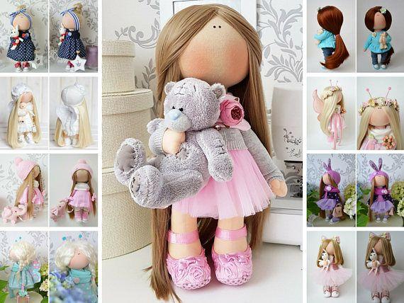 Tilda doll Cloth doll Handmade doll Panenka Muñecas Pink doll Soft doll Bonita Baby gift Nursery doll Poupée Fabric doll Bambole by Tanya E